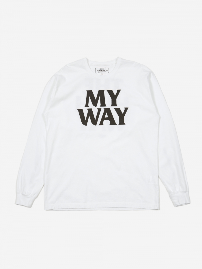 Neighborhood Longsleeve My Way / C-TEE - White (Image 1)
