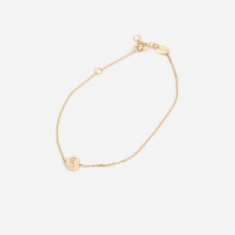 Ruifier Modern Words Crescent Bracelet - 18ct Yellow Gold