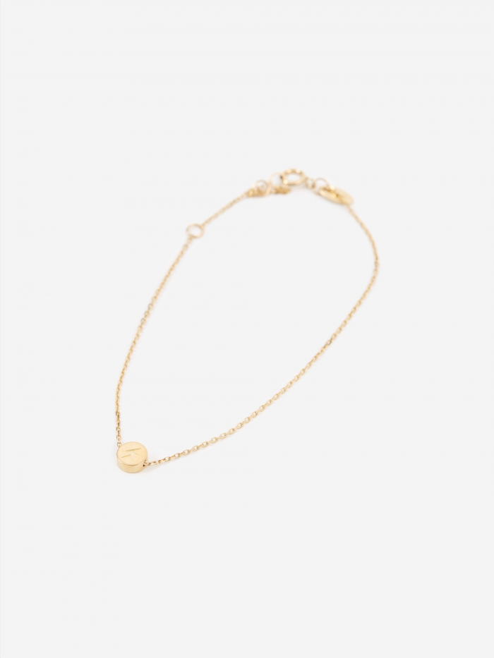 Ruifier Modern Words Lightning Bracelet - 18ct Yellow Gold (Image 1)