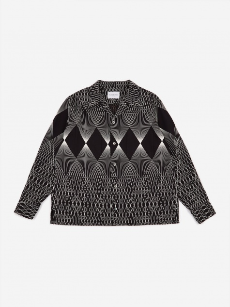 Geometric Pattern Shirt - Black