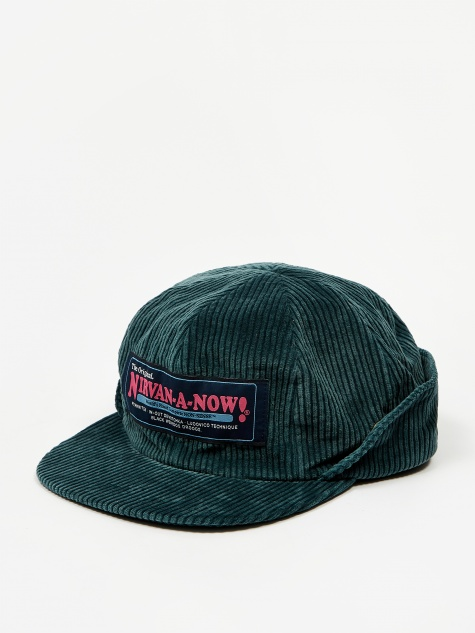 Corduroy Flap Cap - Dark Green