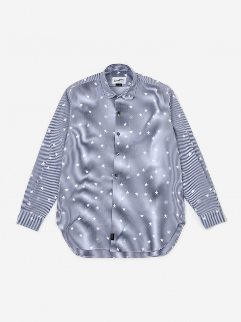 Goodhood x Wemblex Button Down Shirt - Blue Stripe