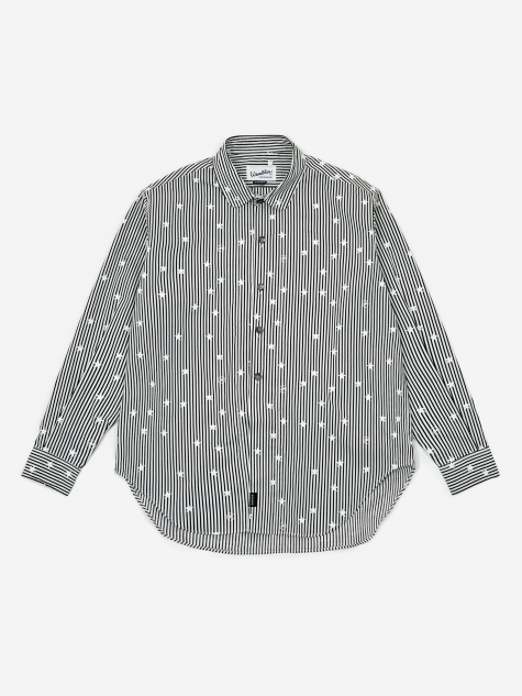 Goodhood x Wemblex Button Down Shirt - Black Stripe