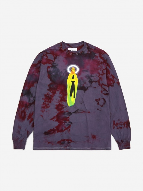 Mother Mary Longsleeve T-Shirt - Tie Dye Charc