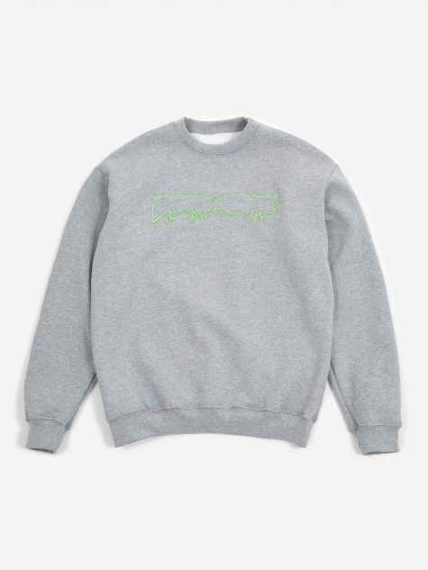 Reversible Empty Drip Crewneck Sweatshirt - Heat