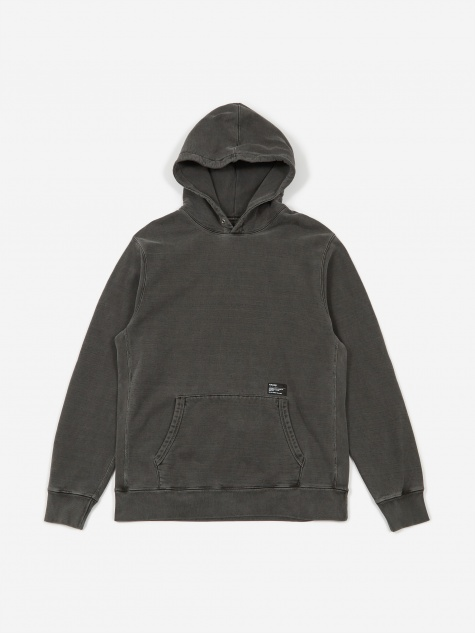 Pigment Dyed Heavyweight Hoodie Cotton Fleece - Charcoal