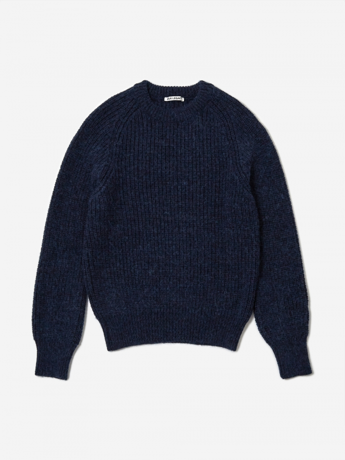 Our Legacy Heavy Chunk Raglan Jumper - Fuzzy Deep Sea (Image 1)
