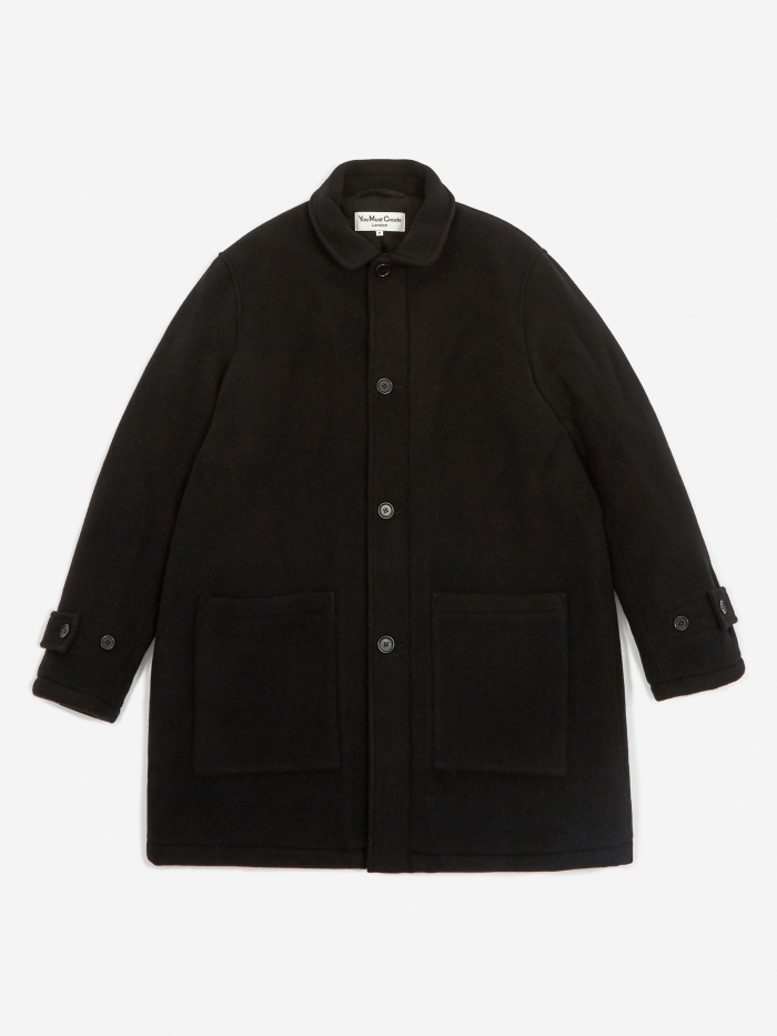 YMC Factory House Coat - Black (Image 1)