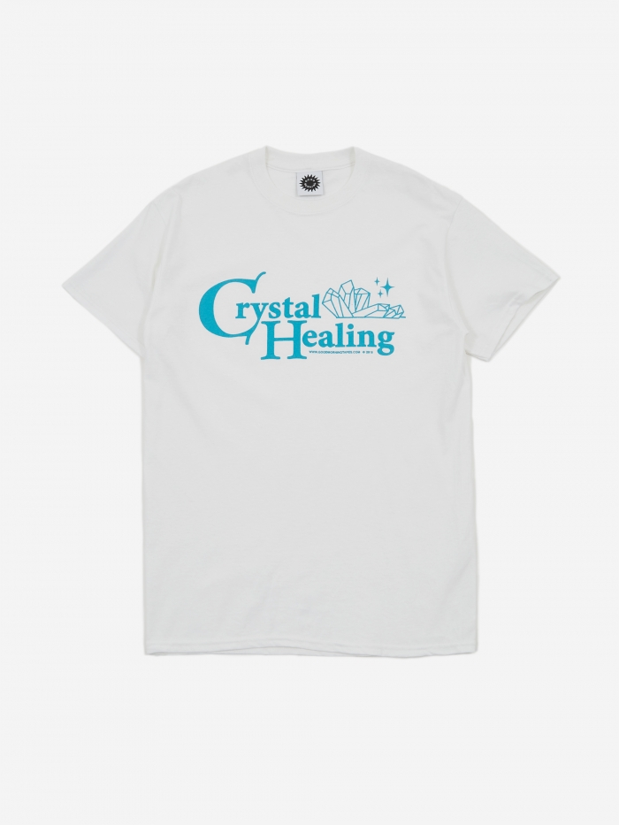Good Morning Tapes Crystal Healing Shortsleeve T-Shirt - White (Image 1)