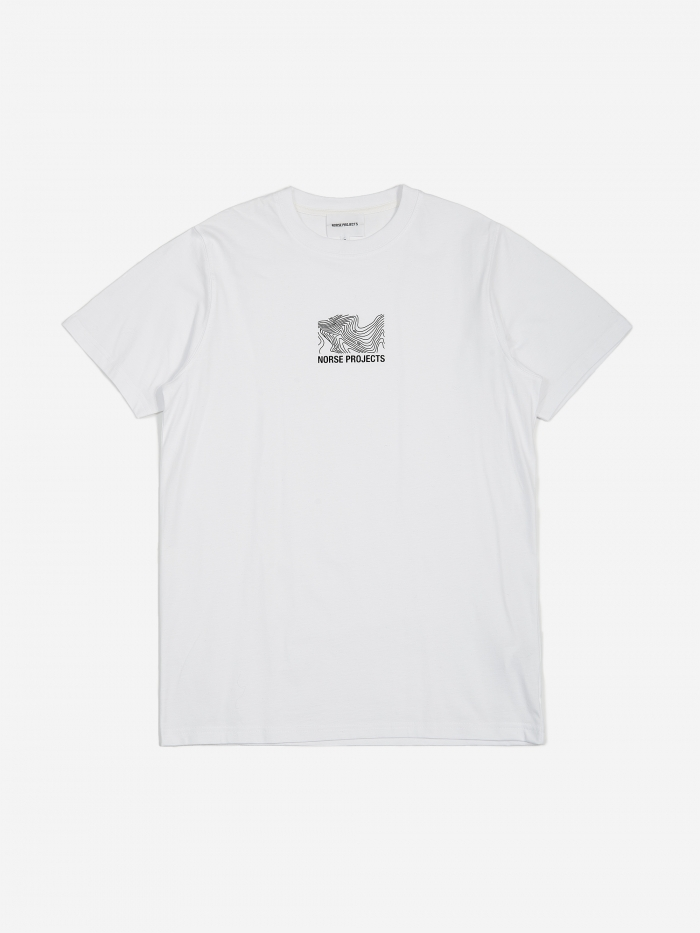 Norse Projects Niels Small Topo Logo T-Shirt - White (Image 1)