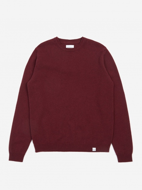 Sigfred Lambswool Jumper - Mulberry Red
