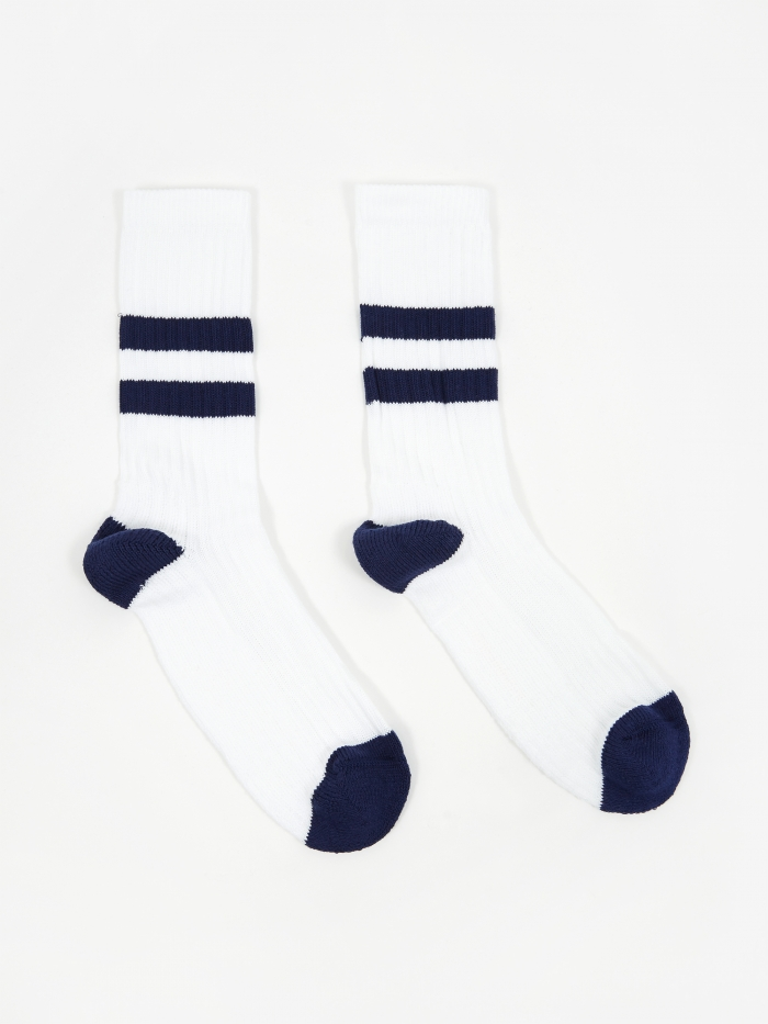 Norse Projects Bjarki Cotton Sport Sock - Twilight Blue (Image 1)
