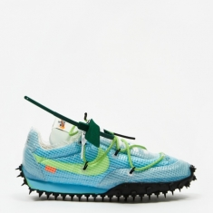 Nike Waffle Racer Off White - Vivid Sky/Electric Green/Black