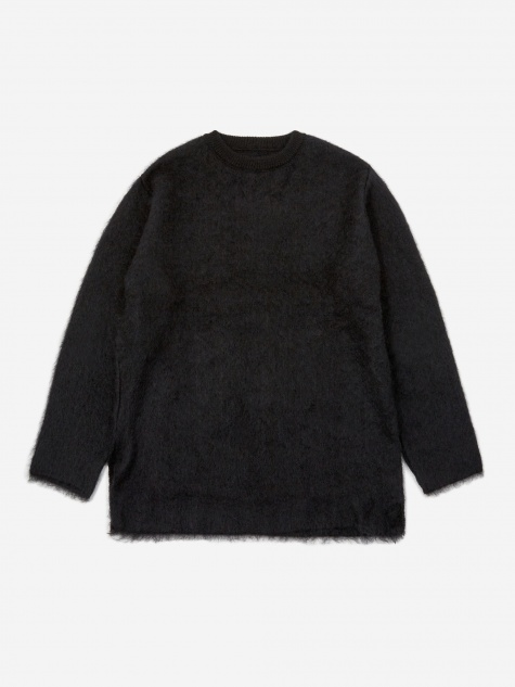 Sasquatchfabrix Mohair Big Knit Jumper - Black/Navy