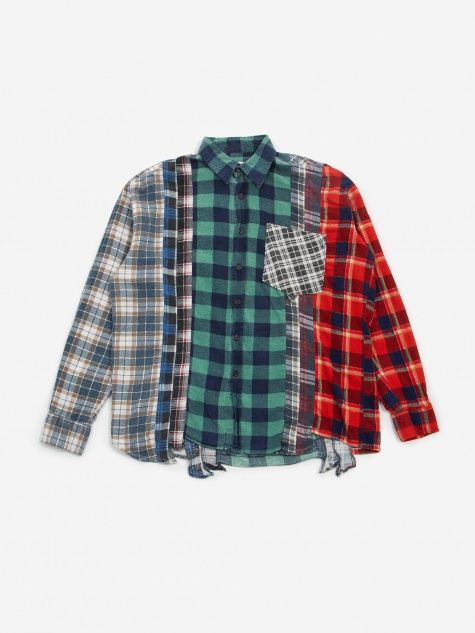 Rebuild 7 Cuts Flannel Shirt Size Small 4 - Assorted