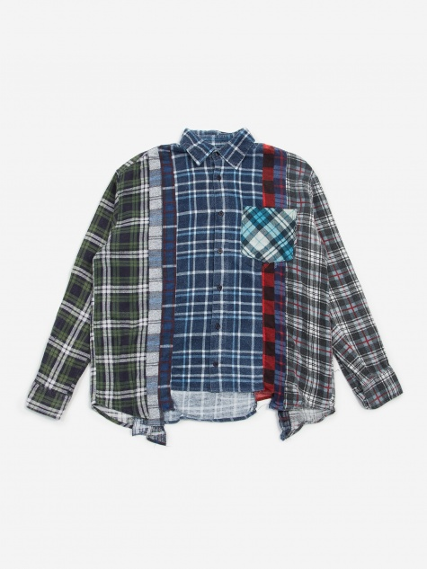 Rebuild 7 Cuts Flannel Shirt Size Small 5 - Assorted
