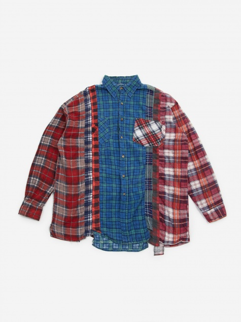 Rebuild 7 Cuts Flannel Shirt Size Large 5 - Assorted