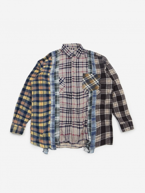 Rebuild 7 Cuts Flannel Shirt Size Large 7 - Assorted
