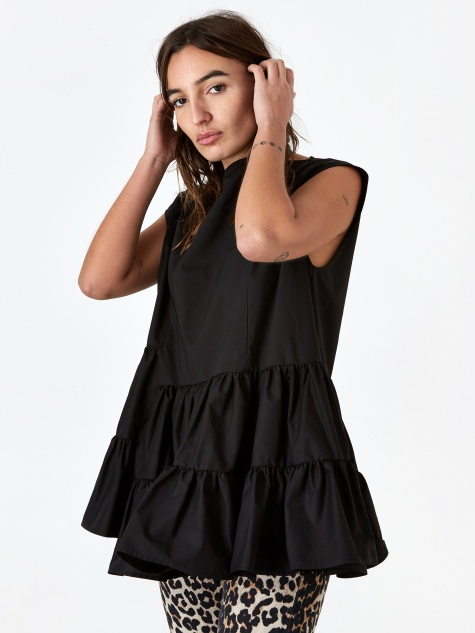 Frill Top - Black
