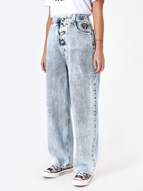 Acid Wash Jean - Blue 80s Snow