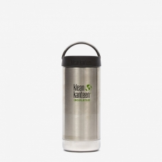 Klean Kanteen Insulated TKWide Bottle 12oz - Brushed Stainless