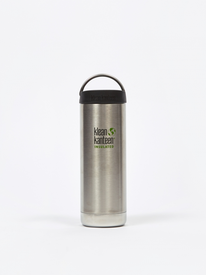 Klean Kanteen Insulated TKWide Bottle 16oz - Brushed Stainless (Image 1)