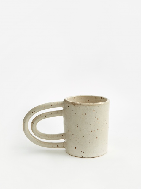 2 Hot 2 Handle Mug - Satin Cream