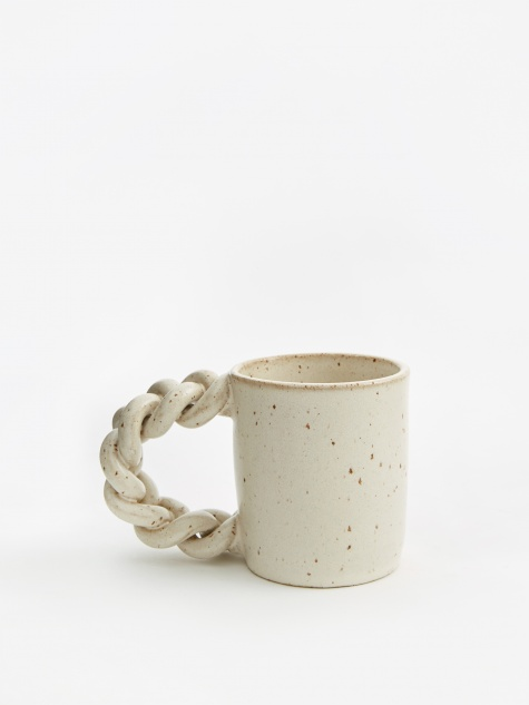 Plaits and Dat Mug - Satin Cream