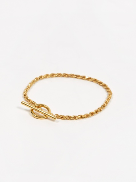 Rope Bracelet - Polished Vermeil Gold