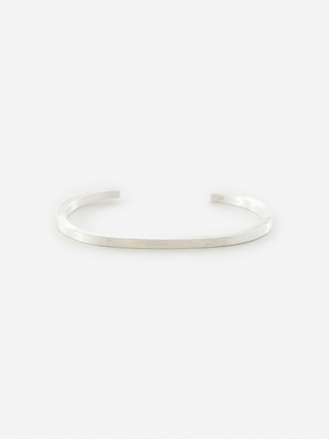 Square Bracelet - Brushed Silver
