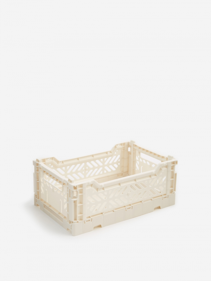 HAY Colour Crate Small - Off White (Image 1)