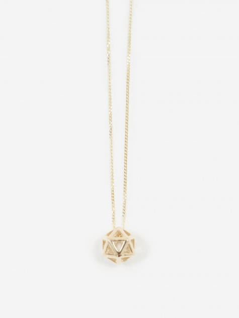 Icosa Mini Pendant - 9ct Yellow Gold