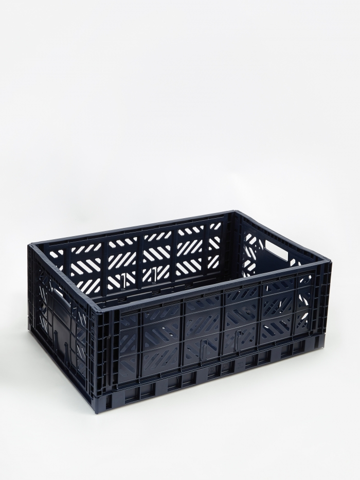 HAY Colour Crate Large - Navy (Image 1)
