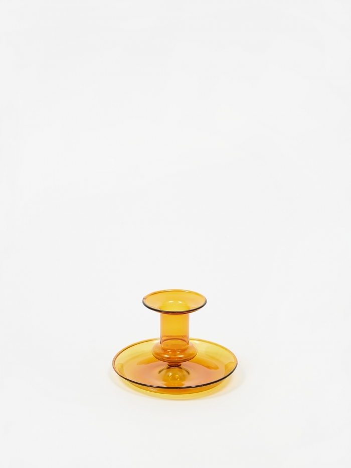 HAY Flare Candle Holder - Amber (Image 1)