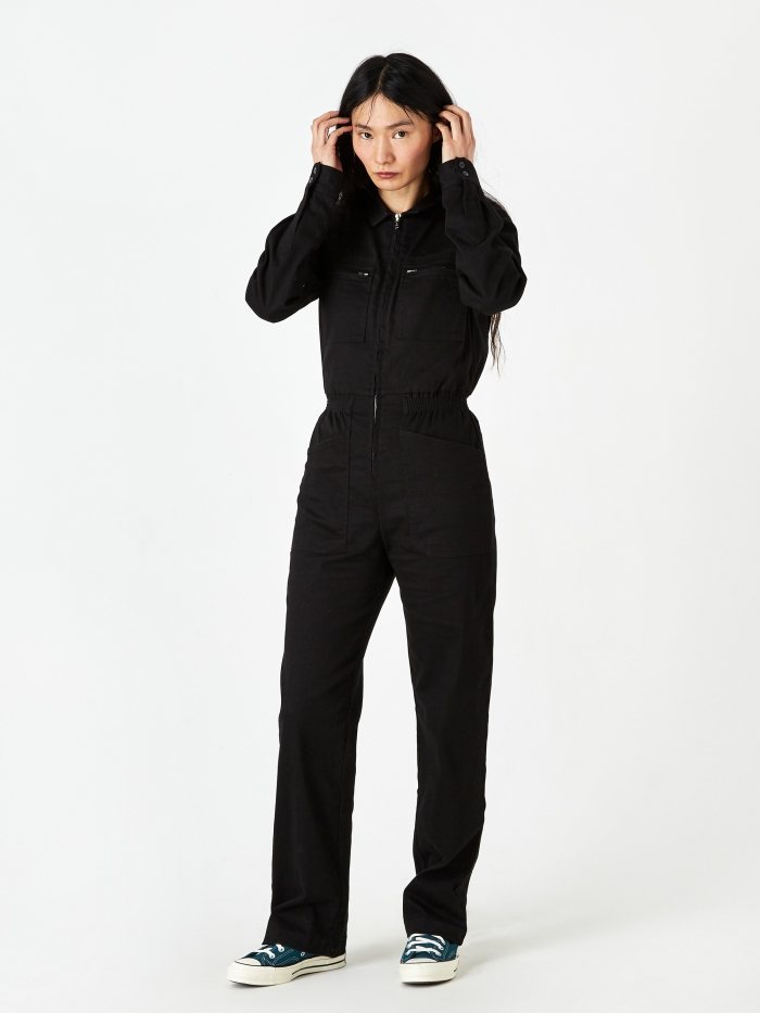 LF Markey Danny Boilersuit - Black (Image 1)
