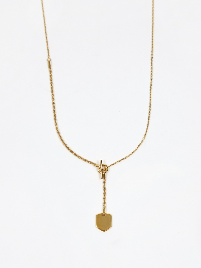 Maria Black Olivia Necklace - 18k Gold Plated (Image 1)