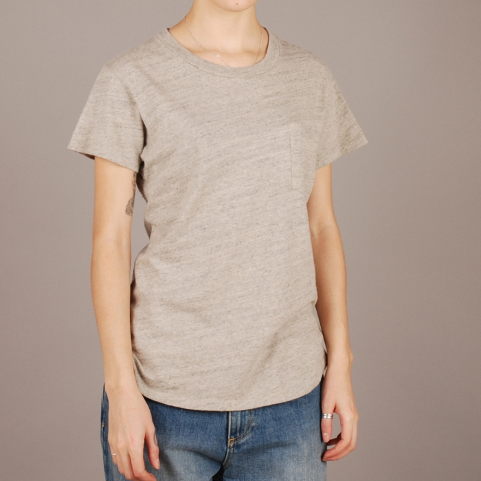 Levi's Vintage Clothing Levi's Vintage 50s Sportswear Tee - Grey Melee (Image 1)
