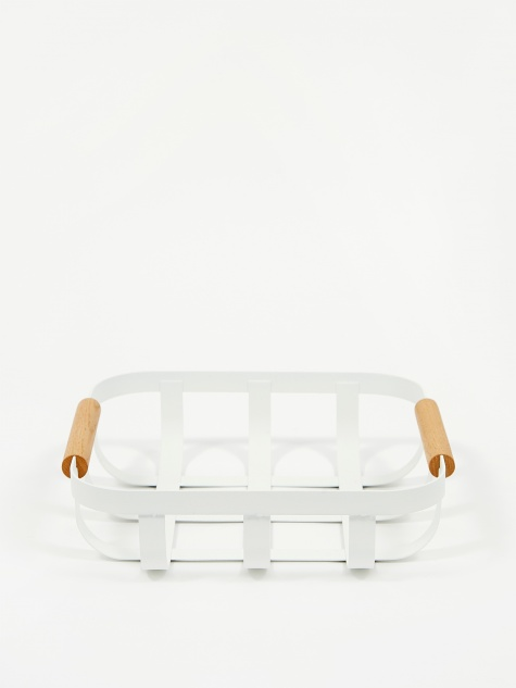 Tosca Kitchen Basket Small - White