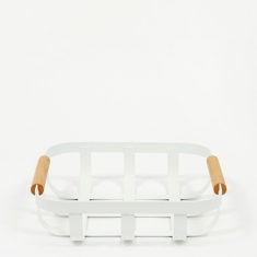 Yamazaki Tosca Kitchen Basket Small - White