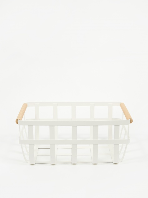 Tosca Kitchen Basket Large - White