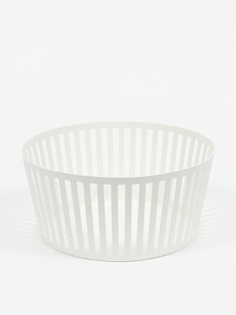 Deep Tower Fruit Basket - White