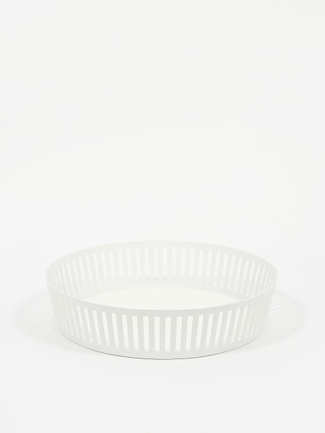 Wide Tower Fruit Basket - White