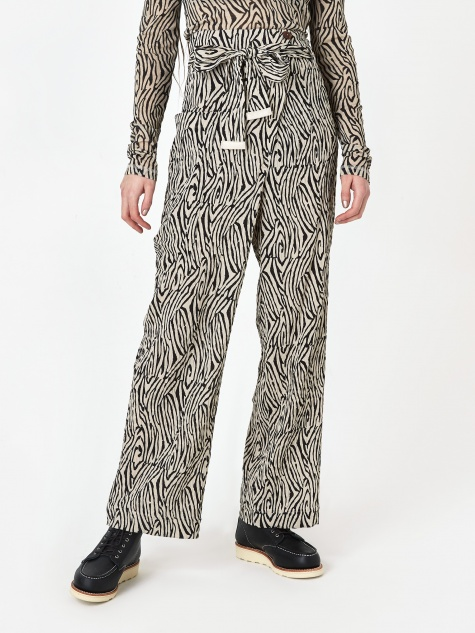 Marlin Trouser - Zebra Block Print