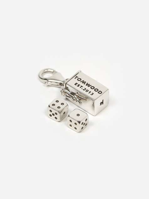 Box Charm Large - Sterling Silver
