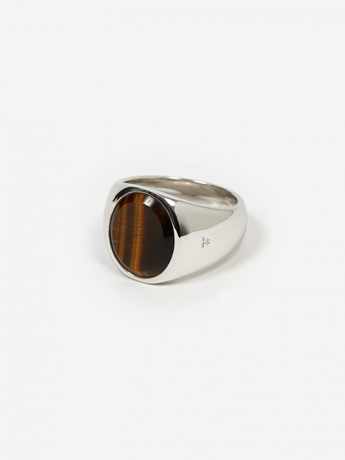Tom Wood Oval Ring - Tiger Eye (Image 1)