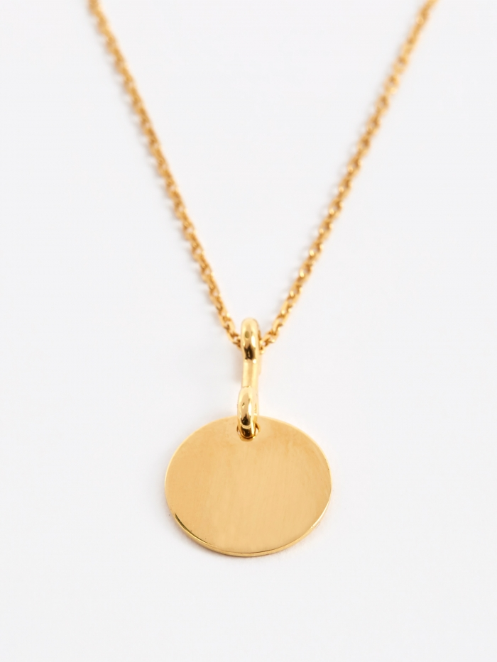 Maria Black Bell Necklace - Gold Plated (Image 1)