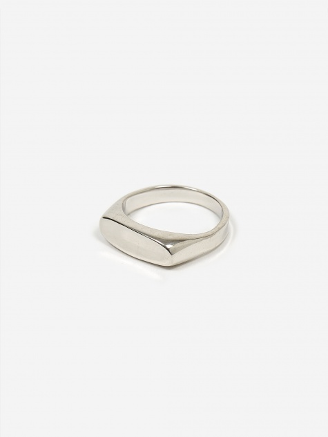 Papaya Ring - High Polished Silver