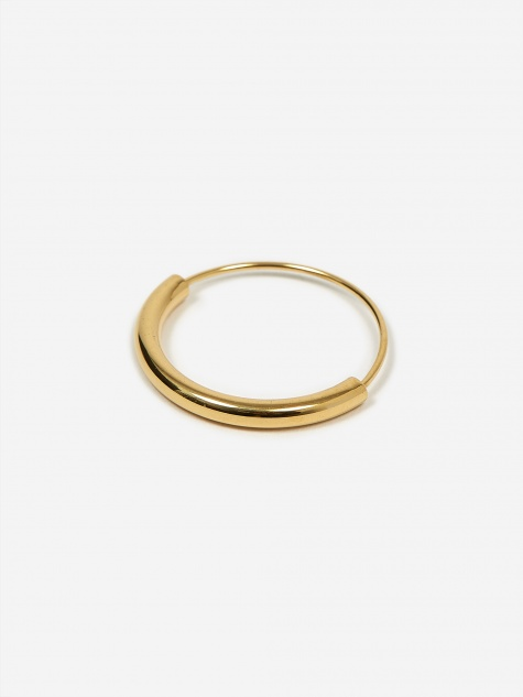 Serendipity Hoop Earring Small - High Polished Gold