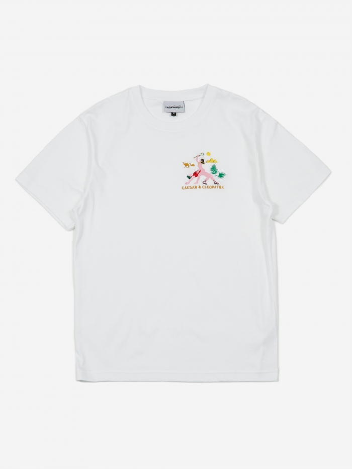 Carne Bollente Cesar In Cleopatra Shortsleeve T-Shirt - White (Image 1)