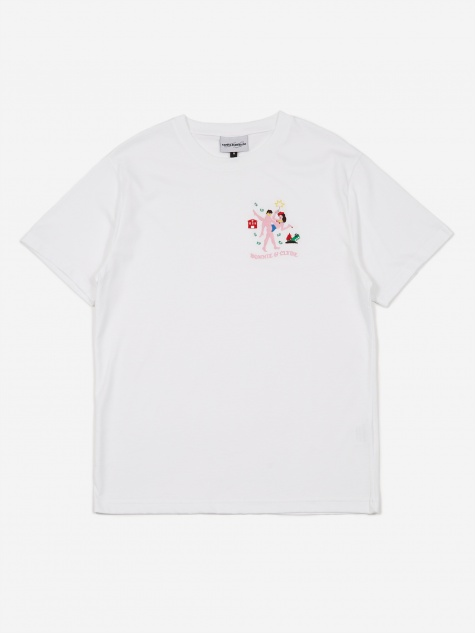 Bonnie On Clyde Shortsleeve T-Shirt - White